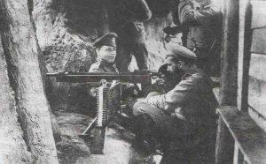 В окопах. Минская губерния. 1916 г.