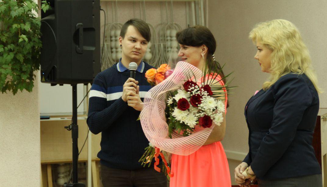 Поздравления от сына Александра и младшей сестры
