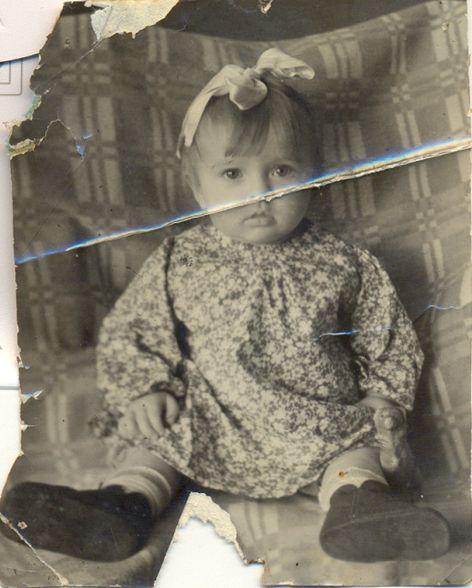 Копытова (Маслова) Галина Алексеевна.  снимок – январь 1943 г. (8 месяцев)
