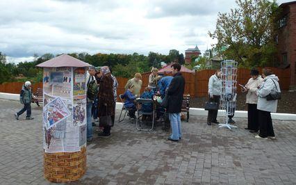 Площадка Областной научной библиотеки на Георгиевской улице - на смотровой площадке за кузницей Бородиных.