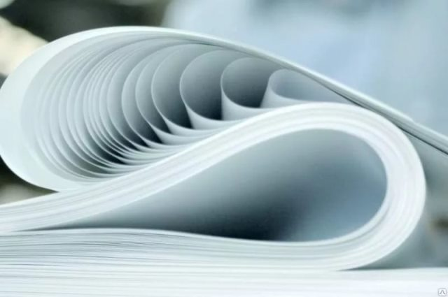 бумага лежит волнами