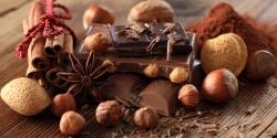 шоколад, бадьян, корица
