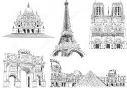 эйфелева башня, нотр-дам, сакре-кер, лувр