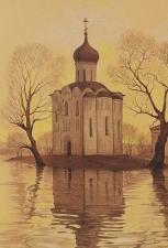 рисунок церкви Покрова на Нерли