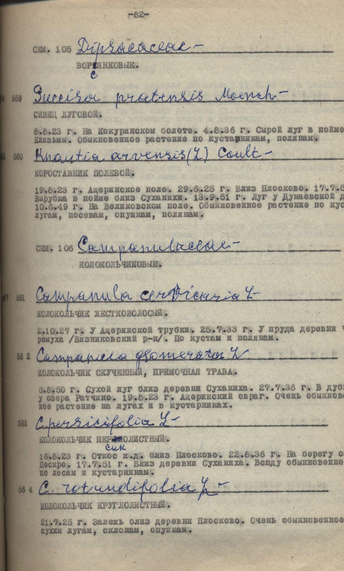 Список растений г. Коврова и Ковровского района