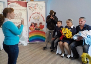 Алексей и Ольга Соболевы с сыном Лёвой