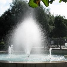 фонтан в парке города Владимира