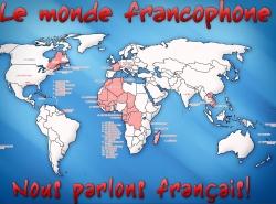карта стран-франкофонов