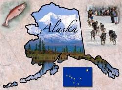 карта штата аляска и животные