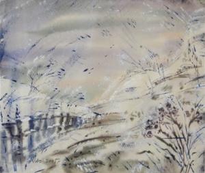Зимний деревенский пейзаж