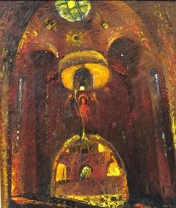 Изображен интерьер храма