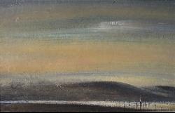 Абстрактный пейзаж с изображением холма