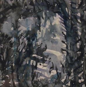 Абстрактное изображение линий серого, черного и белого цветов
