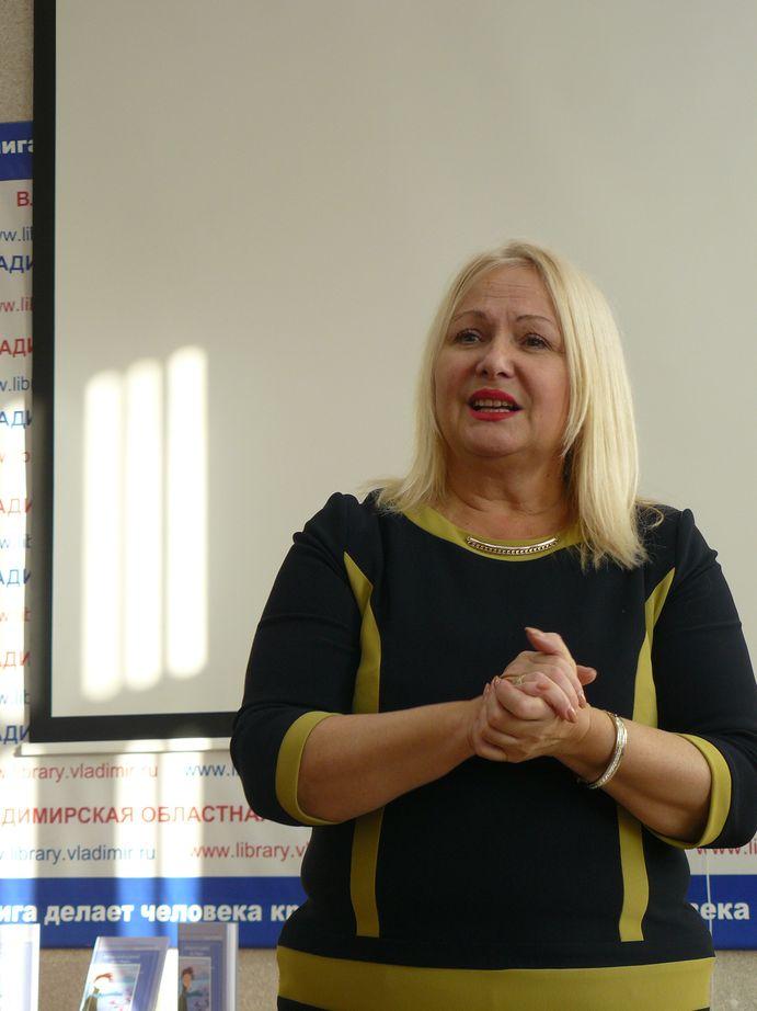 Выступление Ольги Гуниной в библиотеке