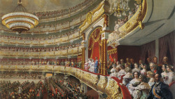 Зичи М. Спектакль в Большом театре по случаю коронования императора Александра II