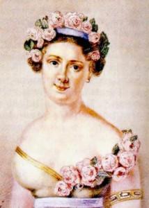 Портрет русской балерины А. И. Истоминой
