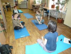 Занятие по хатха-йоге