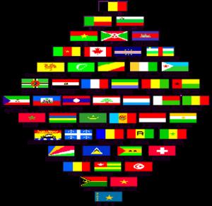 флаги стран франкофонов