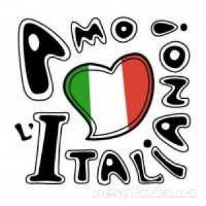 флаг италии и надпись на итальянском языке