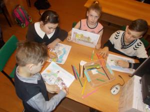 Участники - юные читатели Симской библиотеки