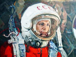 Юрий Алексеевич Гагарин, рисунок