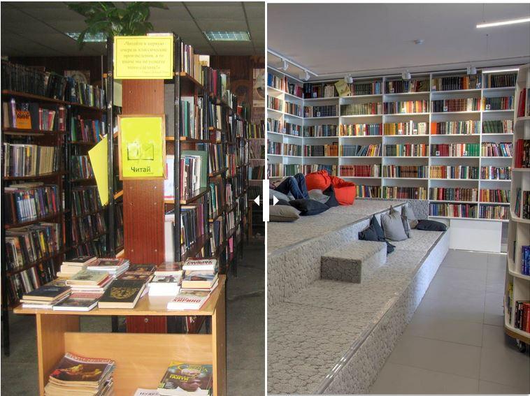 Интерьеры Боголюбовской библиотеки до и после ремонта