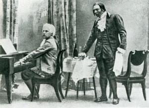 "Фрагмент из оперы Н. А. Римского-Корсакова ""Моцарт и Сальери"", 1898 год"