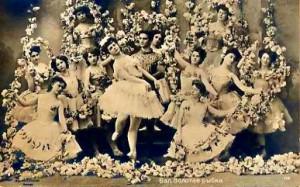"""Сцена """"Подводное царство"""" из балета """"Золотая рыбка"""" в постановке А. А. Горского, 1903 год"""""""