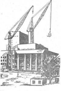 эскиз строительства здания Владимирского драматического театра