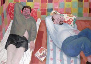 Портрет владимирских художников К.Н. Бритова и В.Я. Юкина. 1965