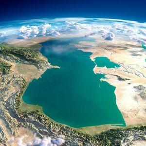 Изображение Каспийского моря из космоса