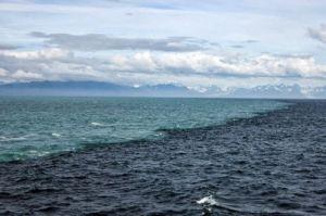 Фотография места встречи Северного и Балтийского морей