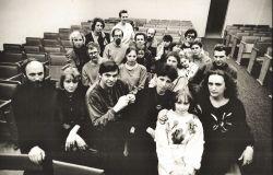 Преподаватели музыкального факультета ВГПИ, 1983. В центре - организатор лектория Параллели В. Столяров