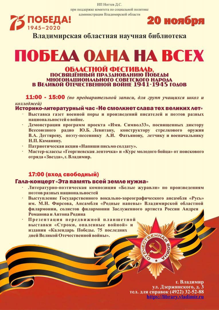 Афиша фестиваля Победы