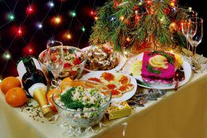 Российский новогодний стол