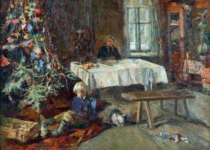 Картина Радимова П. Новый год в Абрамцево