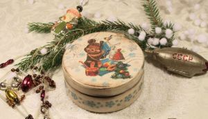 декоративная новогодняя коробочка