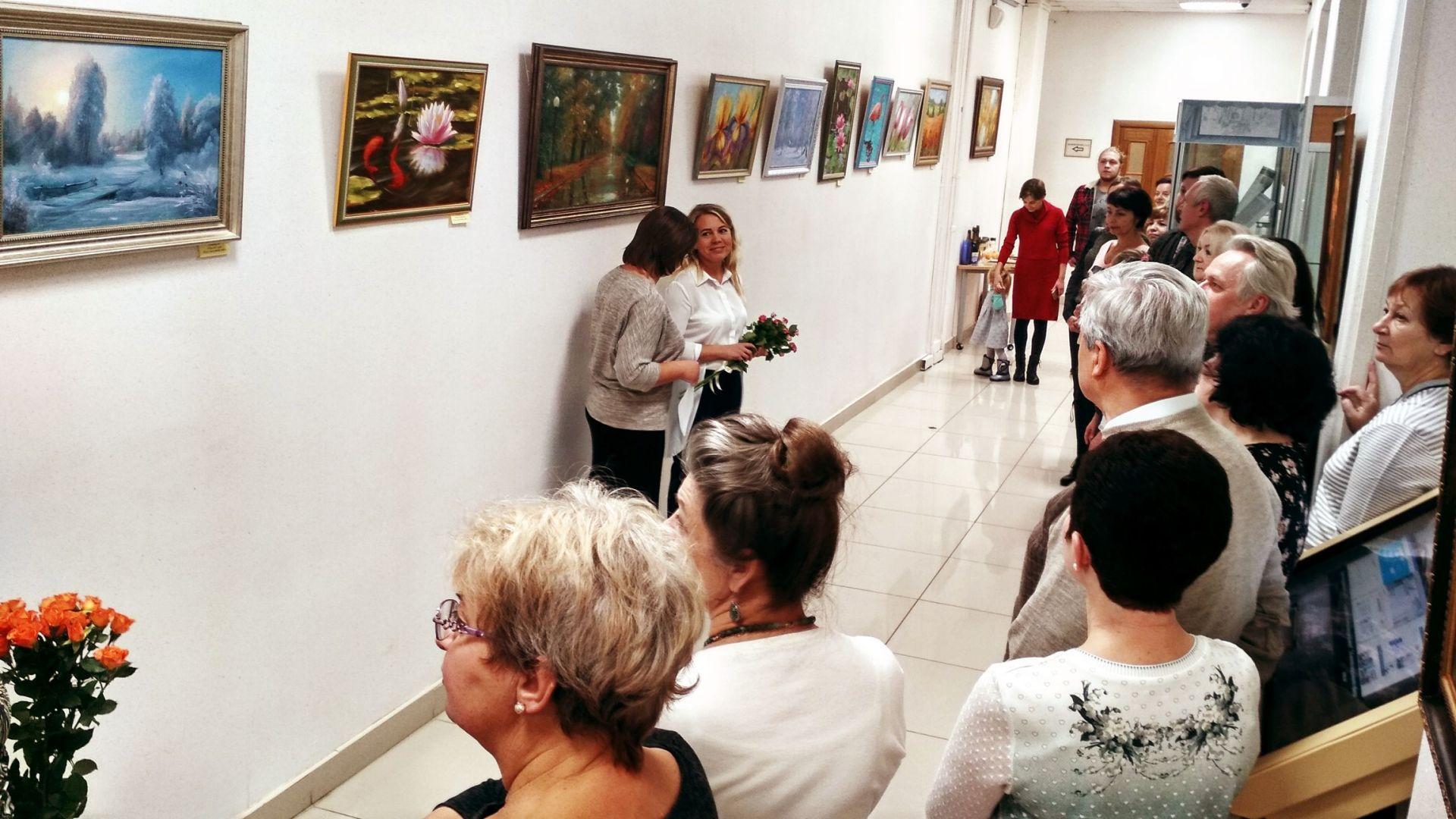 Открытие выставки Степановой