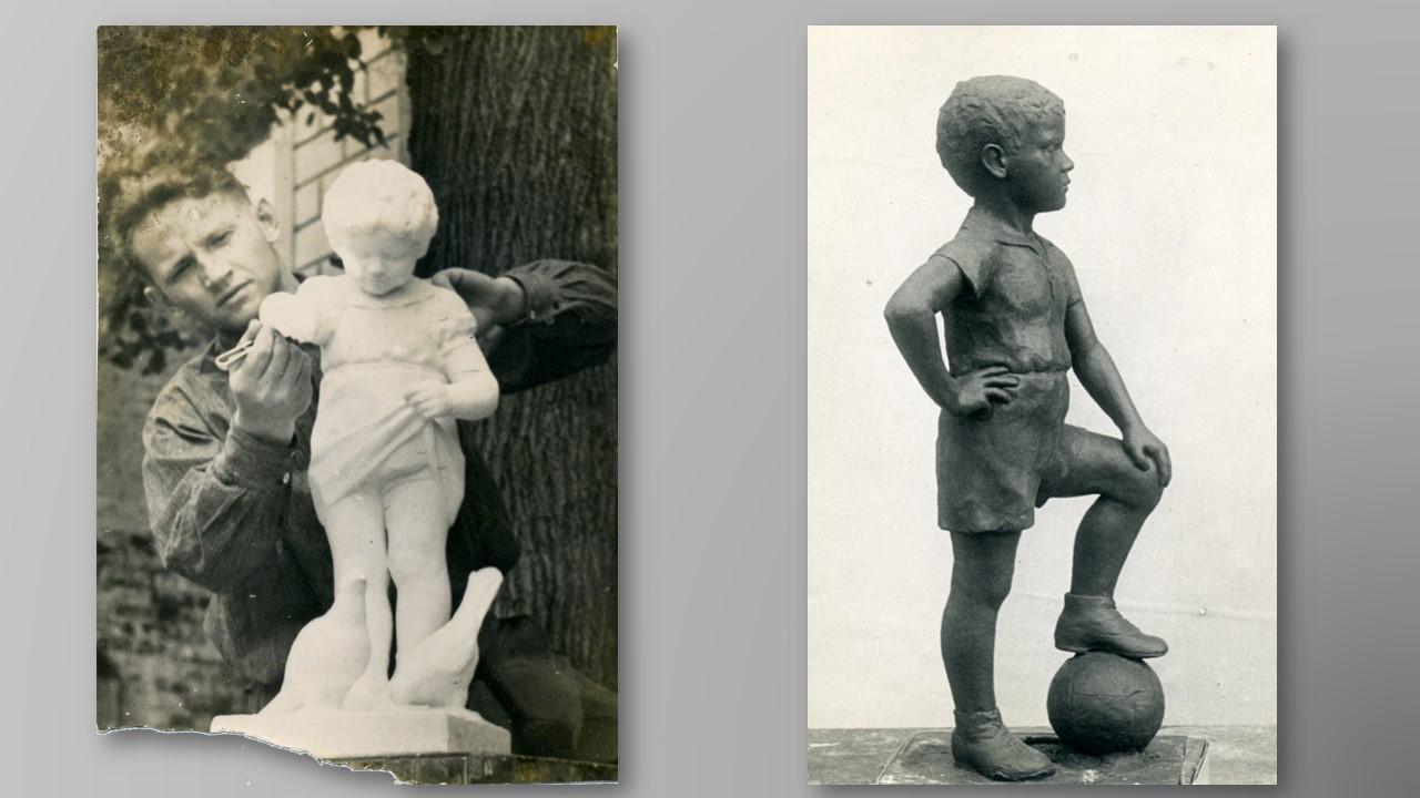 первые работы молодого скульптора Саврасова