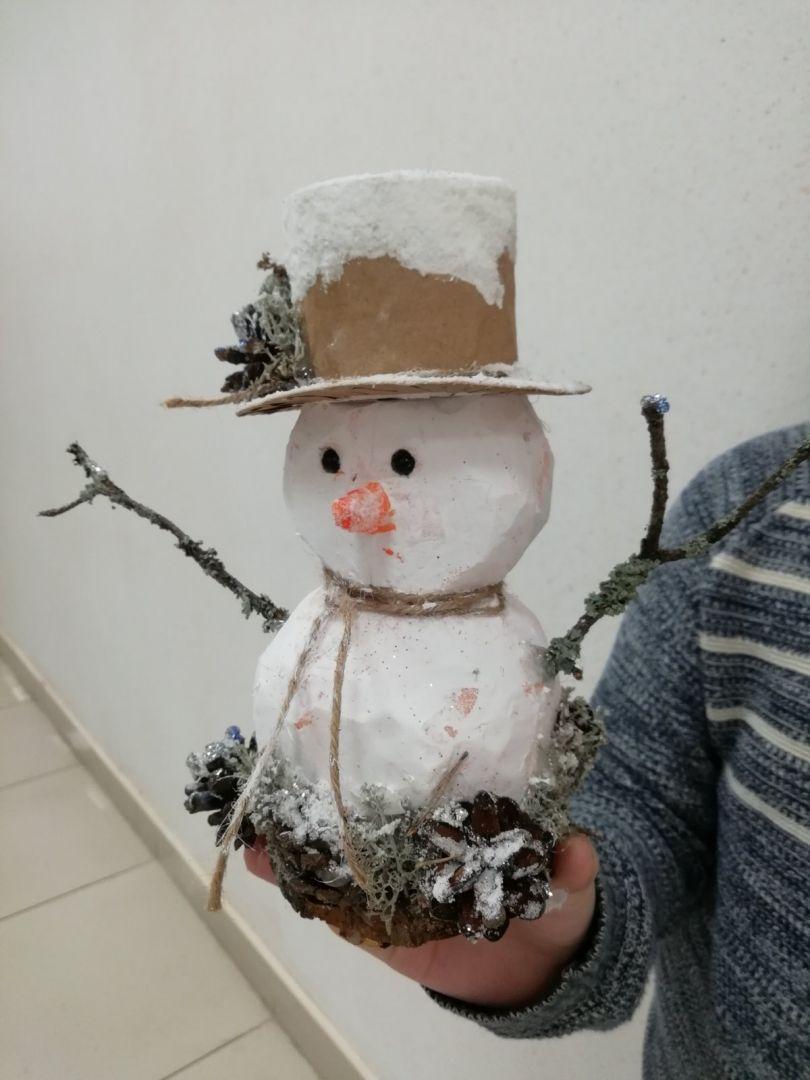 """Игрушка под ёлочку """"Озорной снеговик"""""""