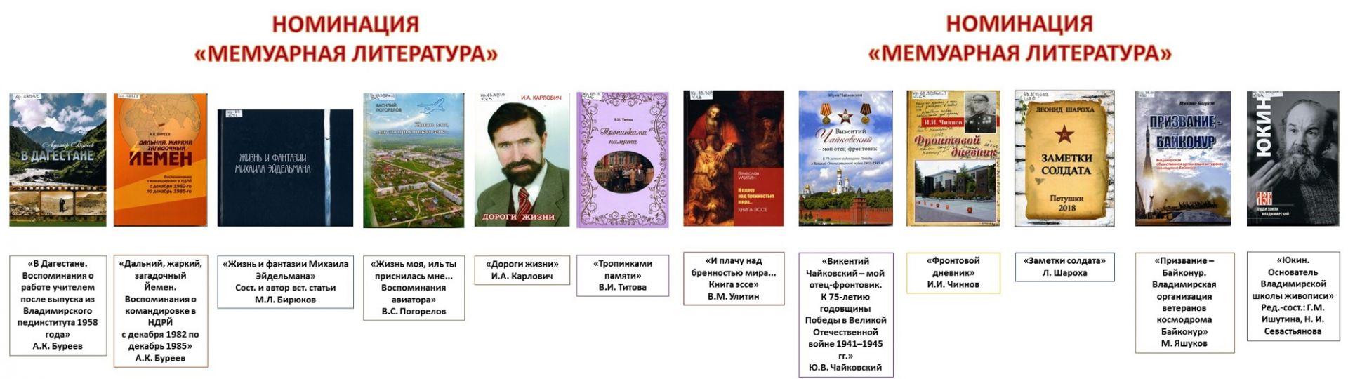 Мемуарная литература номинанты