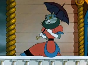 """Кадр из мультфильма """"Кошкин дом"""". Главная героиня."""