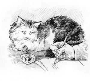 """Кошка из рассказа Куприна """"Ю-Ю"""". Рисунок."""