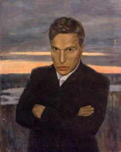 """В. Авдеев """"Портрет Бориса Пастернака"""", 1942 - 1943 г. г."""