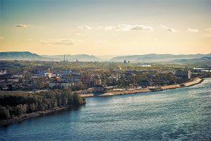 панорамный вид на город Кызыл