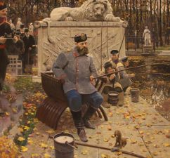 """Картина П. Рыженко """"Александр III на рыбалке"""""""