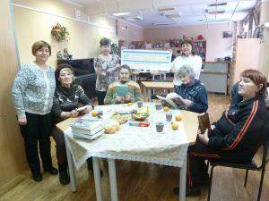 Пенсионеры из Дома-интерната для престарелых и инвалидов мкр. Оргтруд в гостях у областной библиотеки