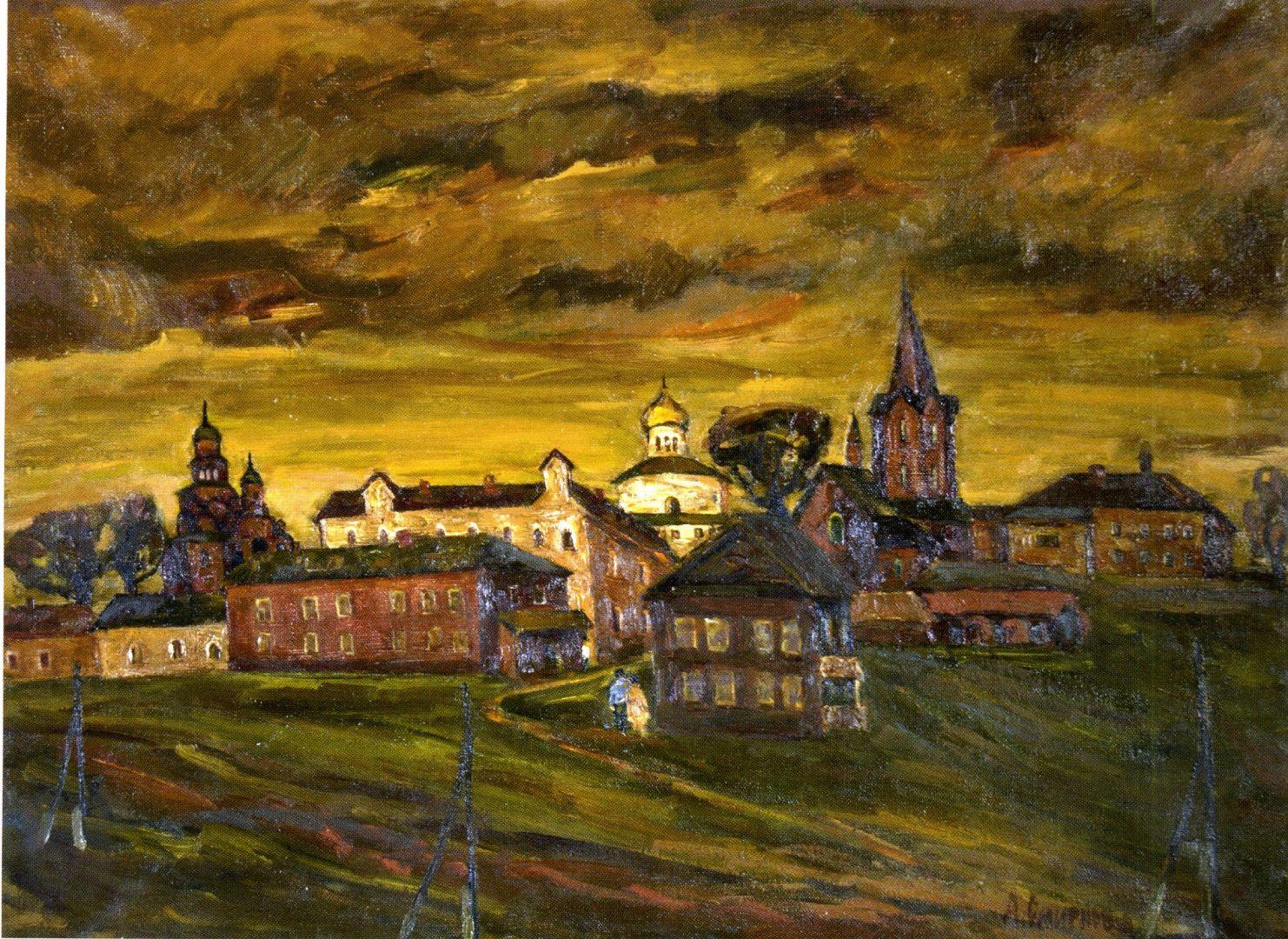 Город Картина художника Смирнова