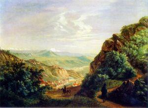 "Картина М. Ю. Лермонтова ""Пятигорск"", 1837 г."