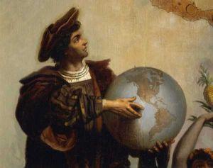 Изображен мужчина с глобусом